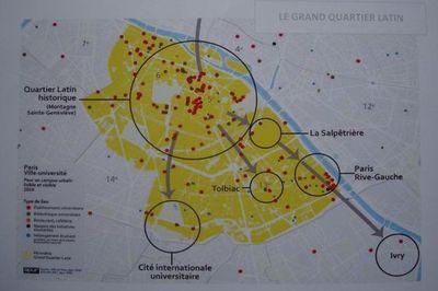 Le Grand Quartier Latin - Source : Ville de Paris, Apur 2010.