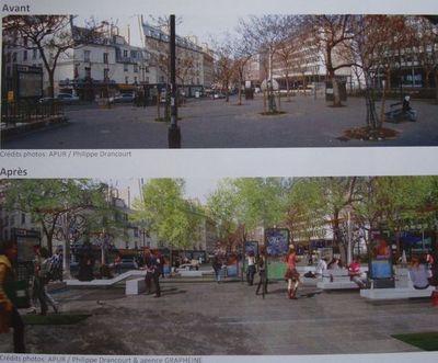 Place Jussieu - Crédits photos : Apur / Philippe Drancourt & agence Grapheine.