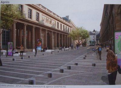 Rue de l'école de médecine - Crédits photos : Apur / Philippe Drancourt & agence Grapheine.