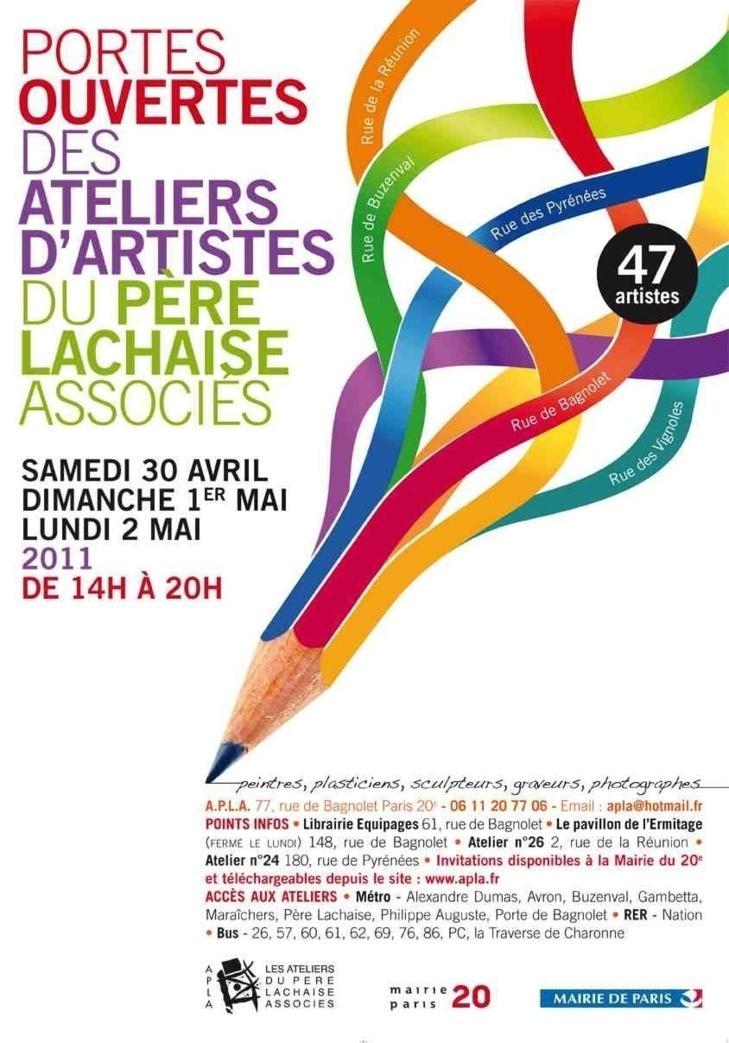 Du 30 avril au 2 mai 2011 les artistes des ateliers du Père Lachaise ouvrent leurs portes
