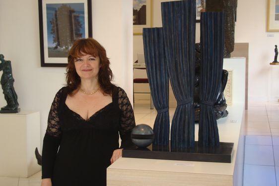 Pascaline Conversat de la Galerie ArtCo France - Photo : Louise Wessier.