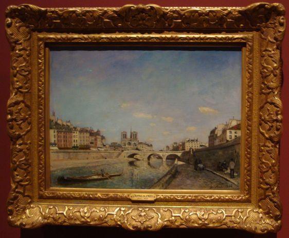 Exposition Paris au temps des impressionnistes, les chefs d'oeuvres du Musée d'Orsay à l'Hôtel de Ville - Photo : Louise Wessier.