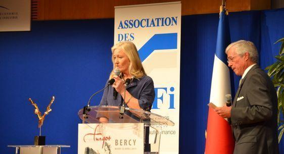 Ysabel de Naurois-Turgot, présidente de La Société des Amis de Turgot - 24e Prix Turgot à Bercy le 12 avril 2011 - Photo : Christian Durandy van den Daele.