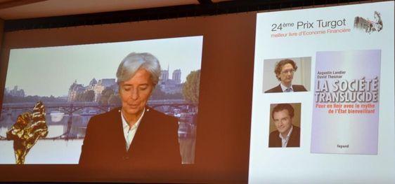 Christine Lagarde décerne le 24e Prix Turgot - Photo : Christian Durandy van den Daele.
