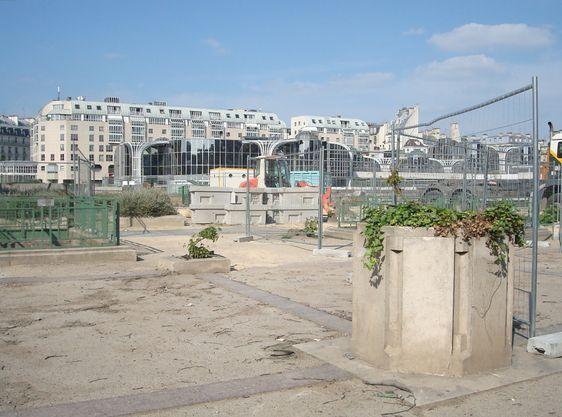 Le chantier des Halles à Paris - 3 mai 2011.