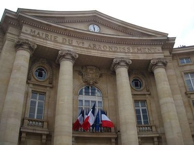 Mairie du 5e arrondissement de Paris, place du Panthéon.