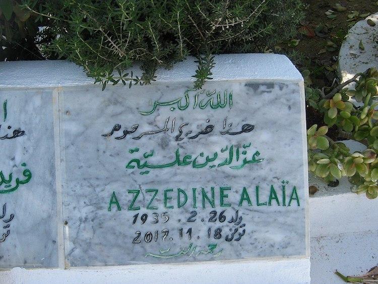 Tombe de Azzedine Alaia - janvier 2018 © Youssefbensaad CC-BY CA 4.0