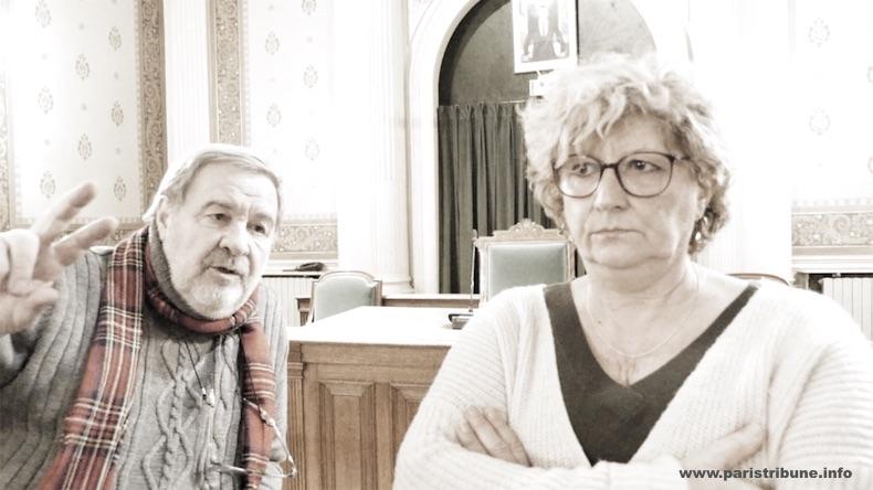 A droite : Catherine Tronca, conseillère d'arrondissement d'opposition (société civile). A gauche : Alain Legarrec, délégué de circonscription PS © VD / PT