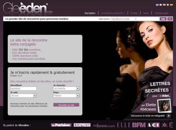 Visuel fourni par Gleeden.com