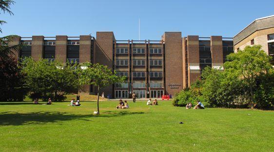 Le campus de la University of Kent, Canterbury, forte de 16.000 étudiants. Photo : Julie Hammett.