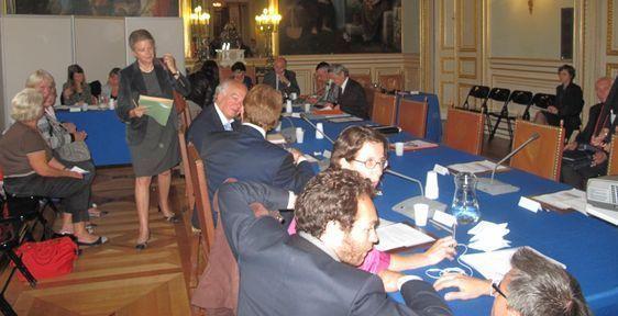 Le conseil d'arrondissement du 7e s'est tenu dans la salle des mariages où un CICA était prévu à la suite - Photo : Julie Hammett.