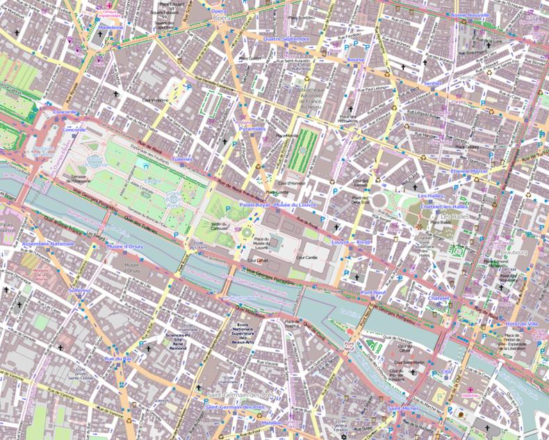 1er arrondissement de Paris ©  OpenStreetMap