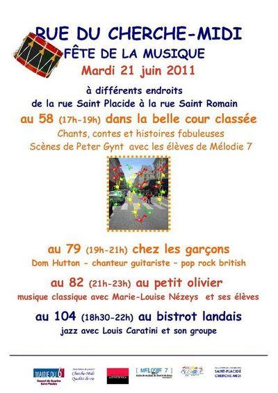 21 juin 2011 : La rue du Cherche-midi en musique