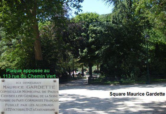Maurice Gardette : le square et la plaque existante. Photo : Louise Wessier.