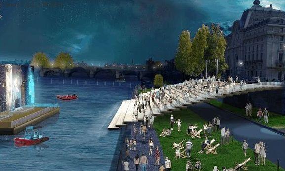 (c) Apur - J.C. Choblet - Aménagements du Port de Solférino : pour ou contre ?