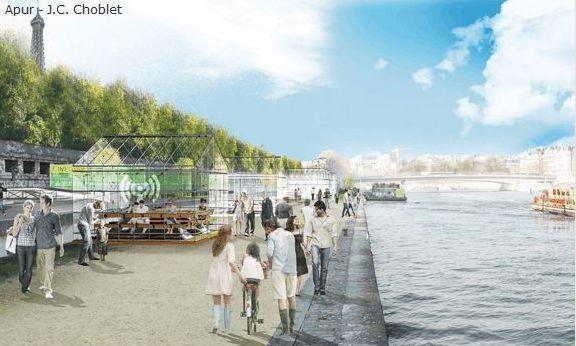 (c) Apur - J.C. Choblet - Aménagements du Port du Gros Caillou : pour ou contre ?