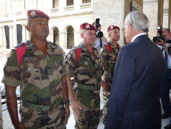 Les soldats des Outre-mer sont français. Photo : Julie Hammett.