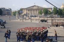 Vue sur l'Assemblée nationale depuis la place de la Concorde, le 14 juillet 2011. Photo : VD.