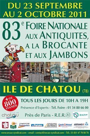 23 septembre - 2 octobre 2011 : Foire Nationale aux Antiquités à la brocante et aux jambons de Chatou