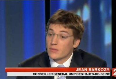 Jean Sarkozy au journal télévisé de France 2 le 22 octobre 2009.