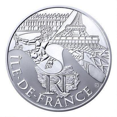 (c) La Monnaie de Paris - Pièce de 10 euros de la région Ile-de-France.