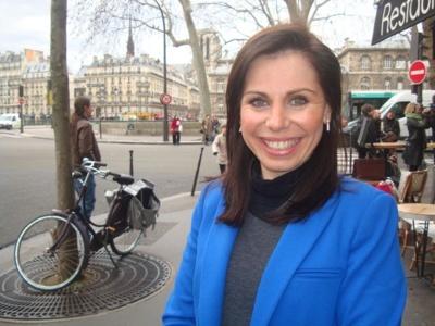 Géraldine Poirault-Gauvin au lancement de Paris Libéré le 7 janvier 2014 - Crédit : VD.