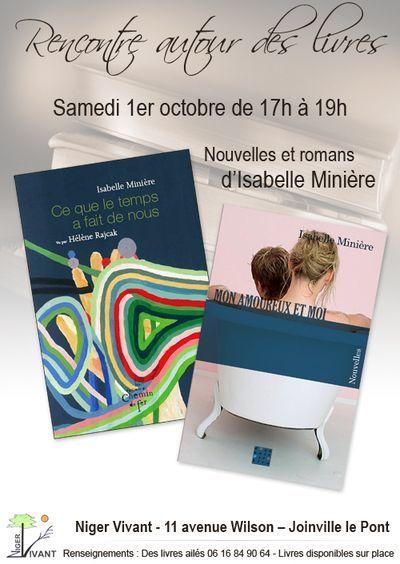 Rencontre avec l'auteure Isabelle Minière.