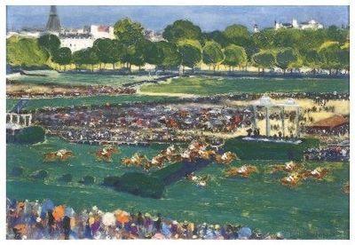 Courses de chevaux à Auteuil (c) Louis-Ferdinand Malespina.