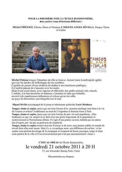 21 octobre 2011 : Concert de Michel Dreano à l'école buisonnière