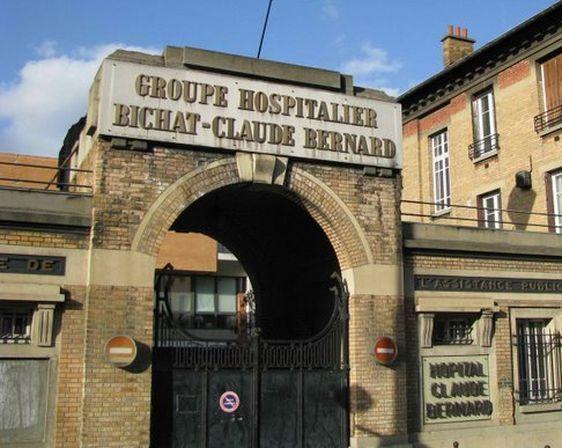 Ancienne entrée de l'Hôpital Bichat, Porte de Saint-Ouen dans le 18e arrondissement de Paris.