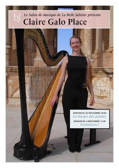 20 novembre et 4 décembre 2011 - Claire Galo Placel - Concerts de Harpe dans le salon de la Belle Juliette