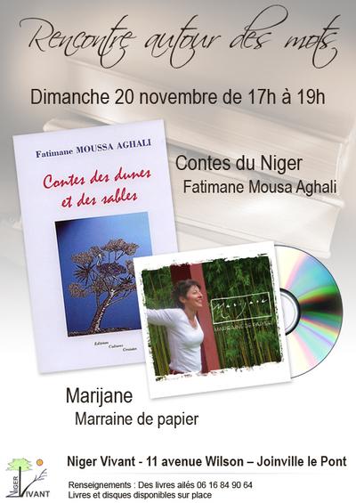 20 novembre 2011 : Contes et chansons avec Fatimane Moussa Aghali et Marijane