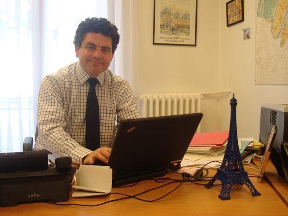 Vincent Roger, délégué fédéral de l'UMP à Paris - Photo : VD.