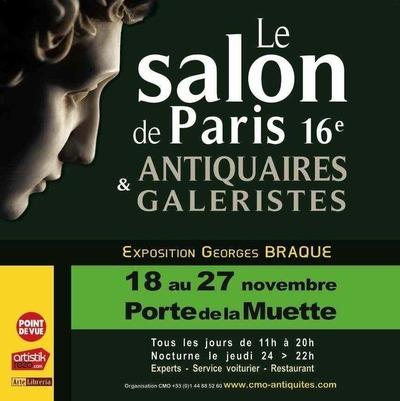 Jusqu'au 27 novembre 2011 : Salon de Paris XVIe antiquaires et galeristes