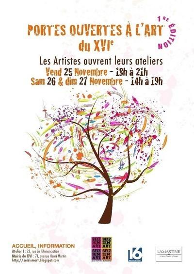 25 - 27 novembre 2011 : Portes Ouvertes à l'Art du 16e SEIZIEM'ART