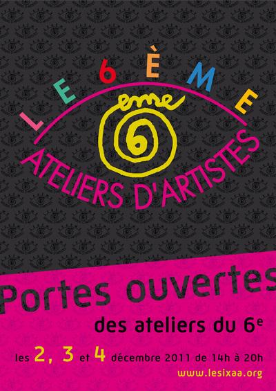 2, 3 et 4 décembre 2011 : Portes Ouvertes de 45 Ateliers d'Artistes du 6e