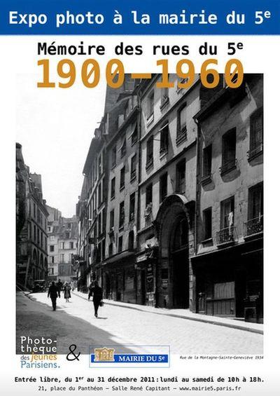 1 - 31 décembre 2011 : photos du Quartier latin de 1900 à 1960