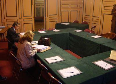 Salle du conseil du 8e arrondissement . Photo : VD.