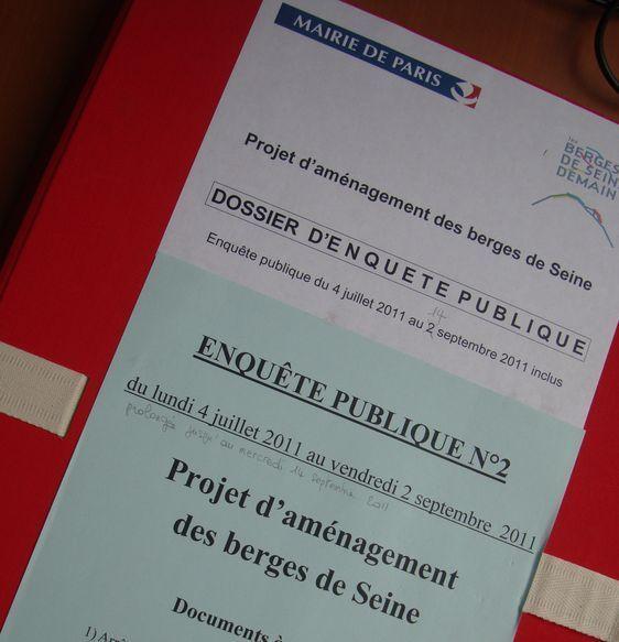 Projet d'aménagement des berges de Seine.