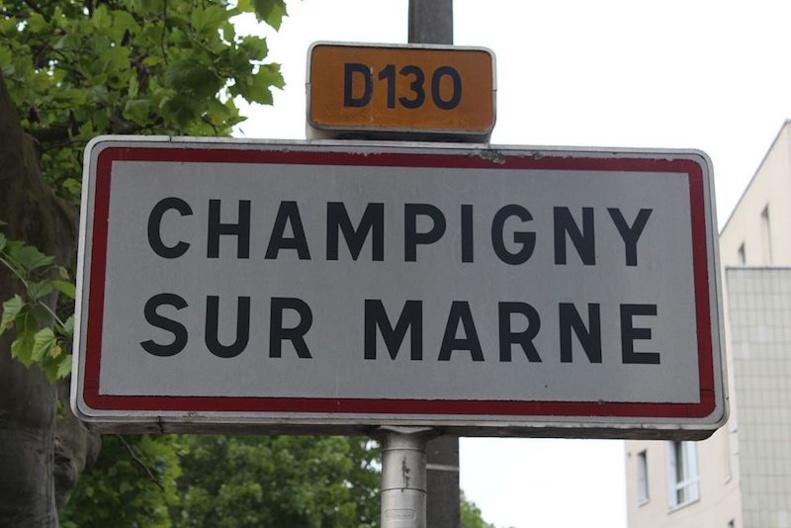 Panneau d'entrée dans Champigny-sur-Marne © chabe01 CC-BY SA 4.0