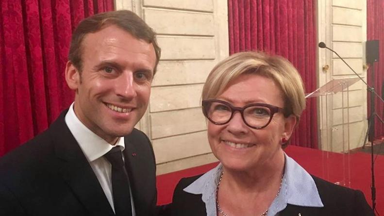 Patricia Gallerneau et Emmanuel Macron - Octobre 2017 © page Facebook souvenirs de Patricia Gallerneau.