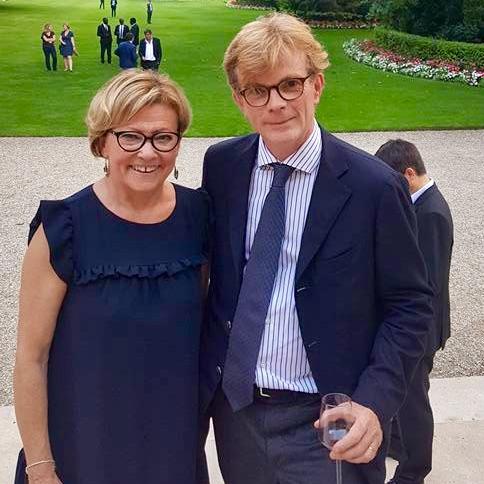 Patricia Gallerneau et Marc Fresneau (Modem) devenu Ministre chargé des relations avec le Parlement - Juillet 2017 © page Facebook souvenirs de Patricia Gallerneau
