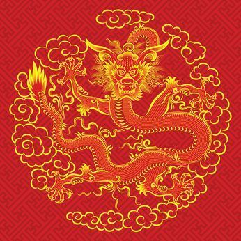 Un dragon rouge chinois © Smulsky