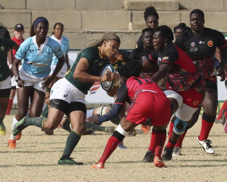 Rugby World Cup African Qualifiers : South Africa defeated Uganda on Friday in Johannesburg during the Rugby Africa Gold Cup © Rugby Africa