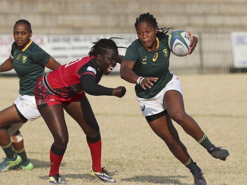 Coupe du Monde de Rugby - Qualifications Africaines : l'Afrique du Sud bat l'Ouganda à Johannesburg lors de la Coupe d'Or d'Afrique de Rugby © Rugby Africa
