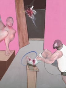 Oedipus and the Sphinx, after Ingres, 1983, oil on canvas, 198x147,5 cm, Berardo Collection, Lisbon, ©The Estate of Francis Bacon