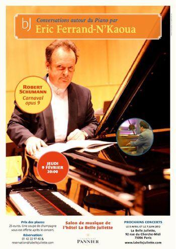 9 février 2012 : Conversation autour du piano avec Eric Ferrand-N'Kaoua