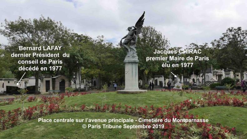 Jacques Chirac 1932 - 2019 enterré à proximité du dernier président du conseil de Paris Bernard Lafay 1903 - 1977 © VD/PT