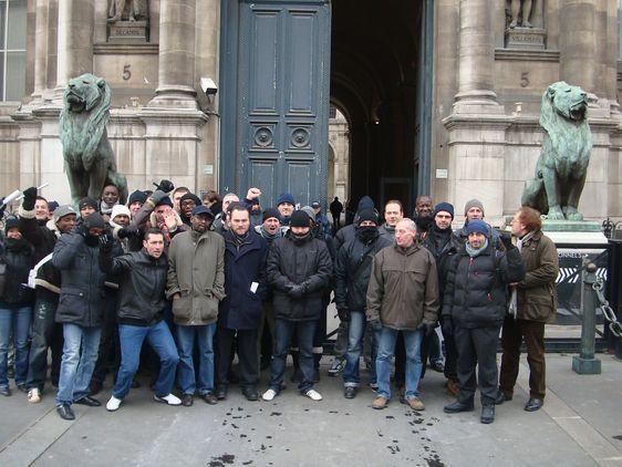 Grève des inspecteurs de la sécurité de l'Hôtel de Ville - Photo : VD.