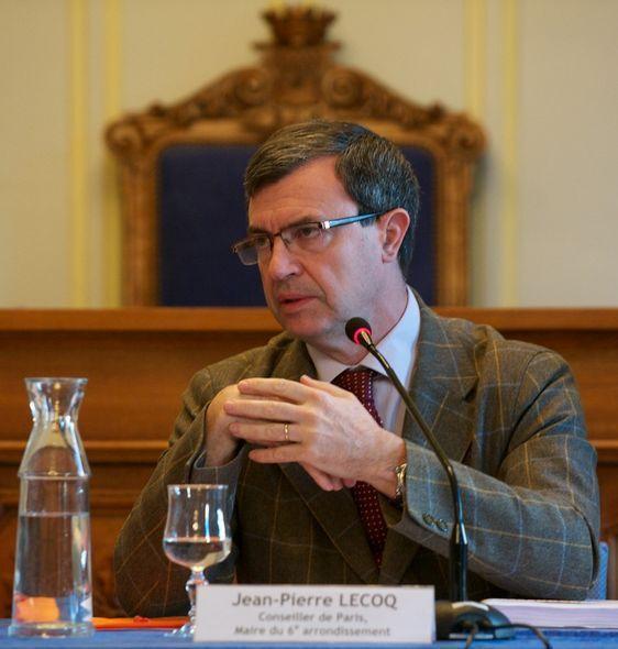 Jean-PIerre Lecoq, maire du 6e arrondissement - Photo : Stan sniper-press.com